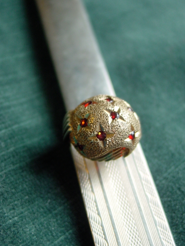 Garnet Dome Ring