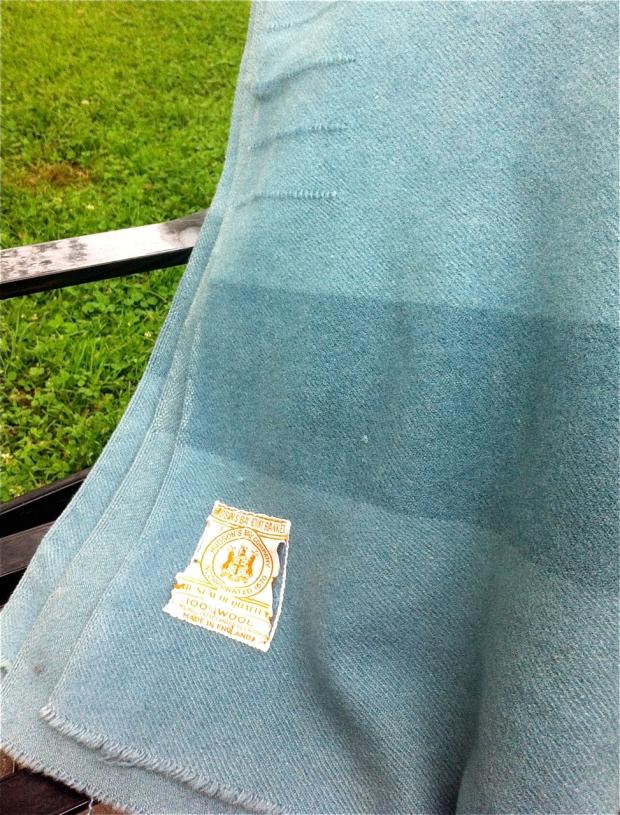Sky Blue Vintage Hudson's Bay Poin Blanket