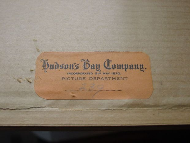 Hudson's Bay Picture Department label