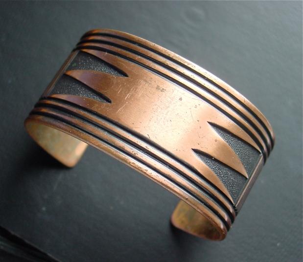 copper Southwestern Cuff Bracelet