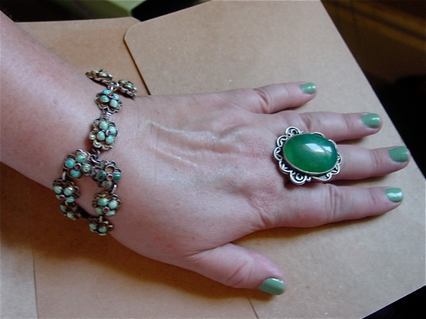 manicure bracelet and ring