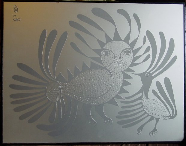 Anojuak Silkscreen Talking Birds