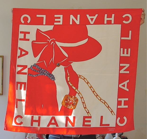 chanel Mademoiselle Scarf 1980s