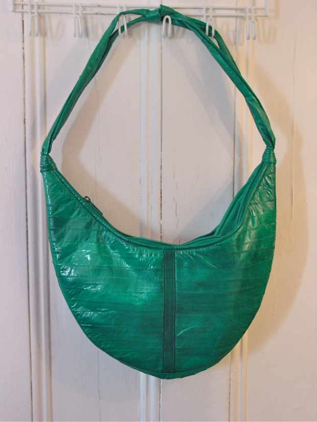 emerald Green eel Skin Hobo