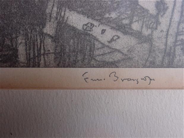 Frank Brangwyn Print signature