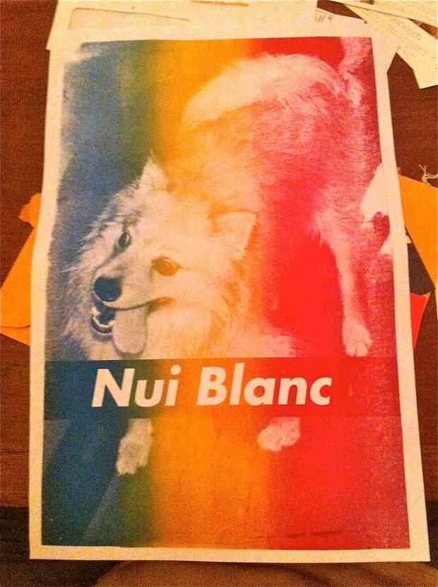Open Studio Nui Blanc Silkscreen 1