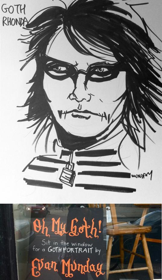 Evan Munday Goth Portriat