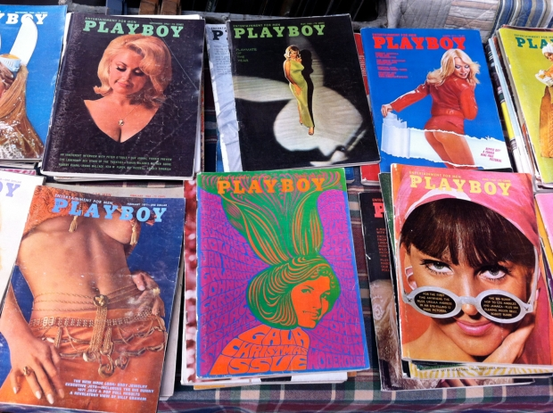 Vintage Playboy Mags at the Brickworks Flea