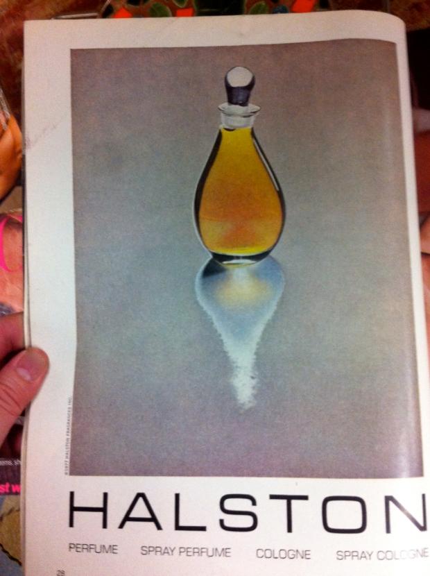 1977 halston Perfume ad