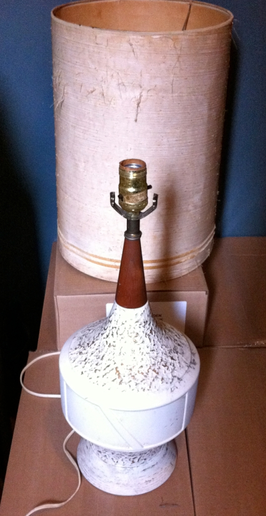 mid century ceramic lamp