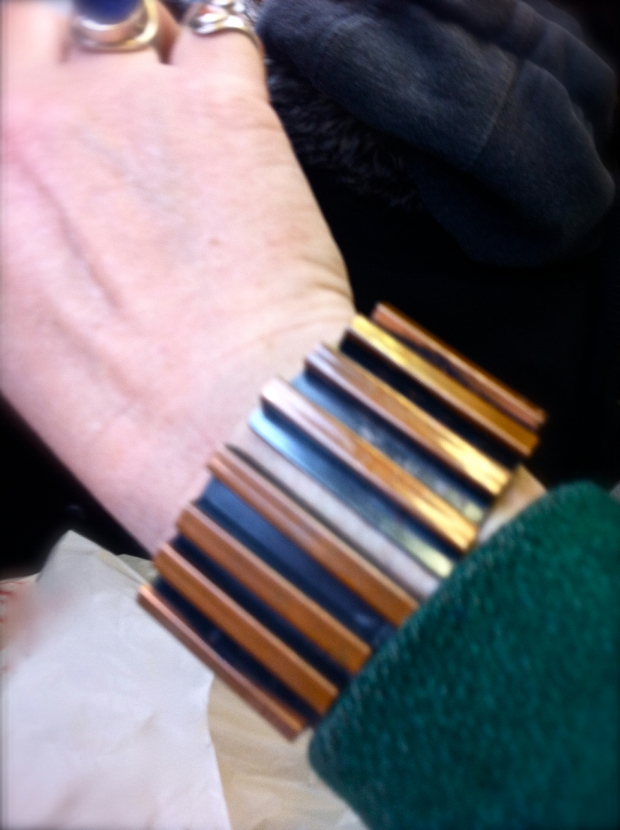 Modernist Copper Clamper Bracelet
