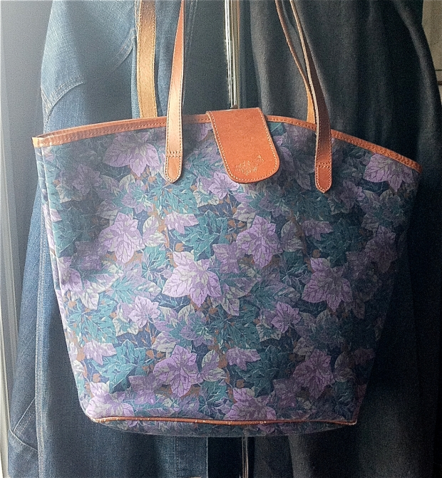 blog Laura Ashley Canvas and Leather tote