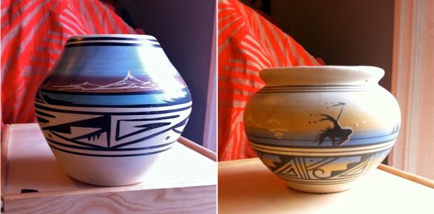 navajo pottery vessels