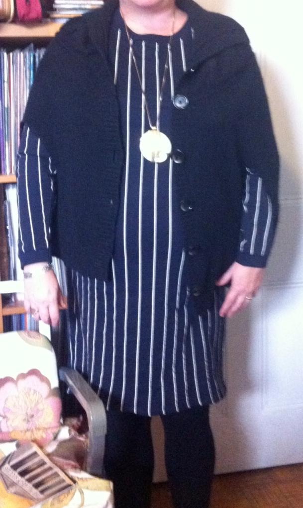 H&M striped jersey dress