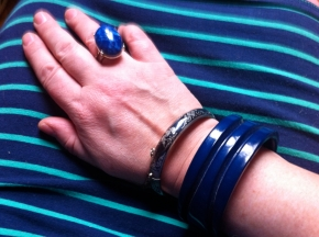 Blue Bangle and Ring