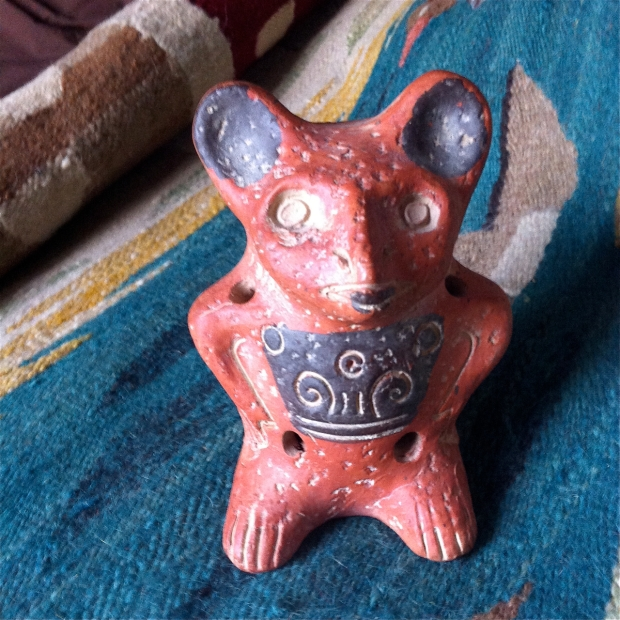 precolumbian style red clay animal figurine Mexico