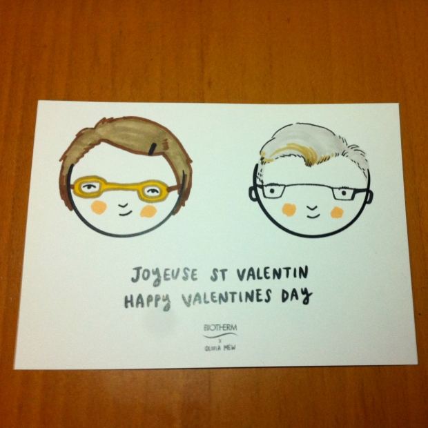 Olivia Mew + Biotherm Personalized Valentine