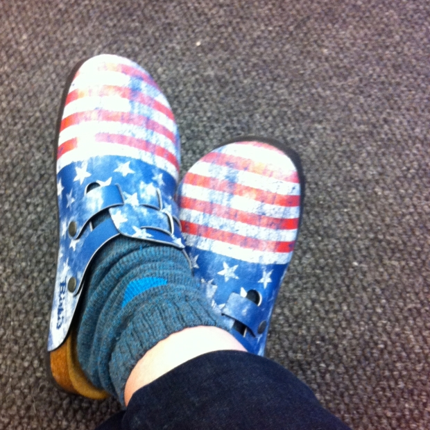 Birki Stars and Stripes Clogs