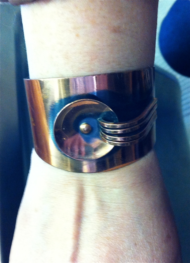 modernist copper cuff