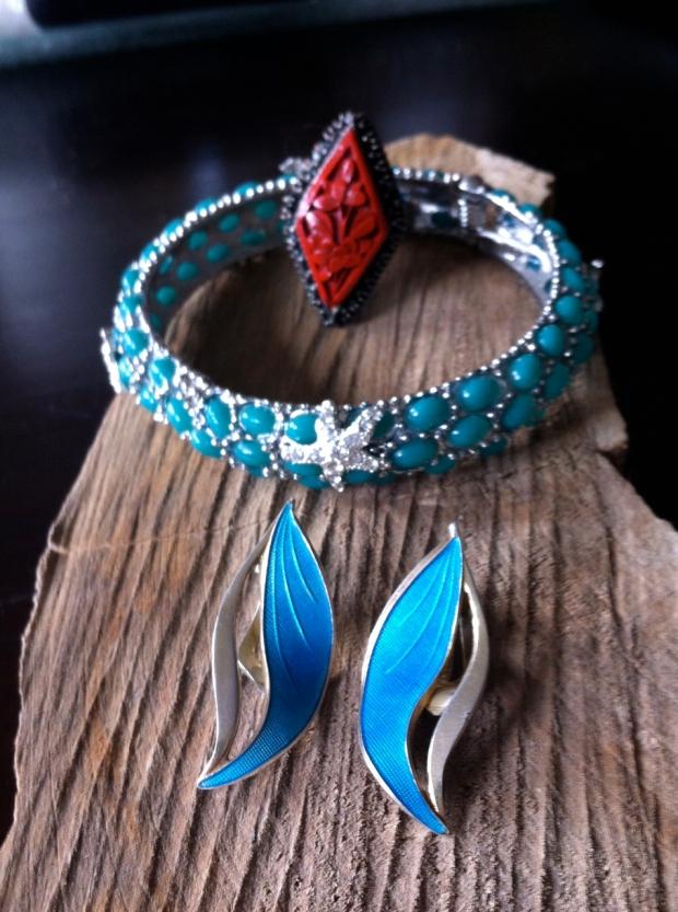 KJL Neptune Bangle,  iinabar rings and Theodor Olsens Earrings