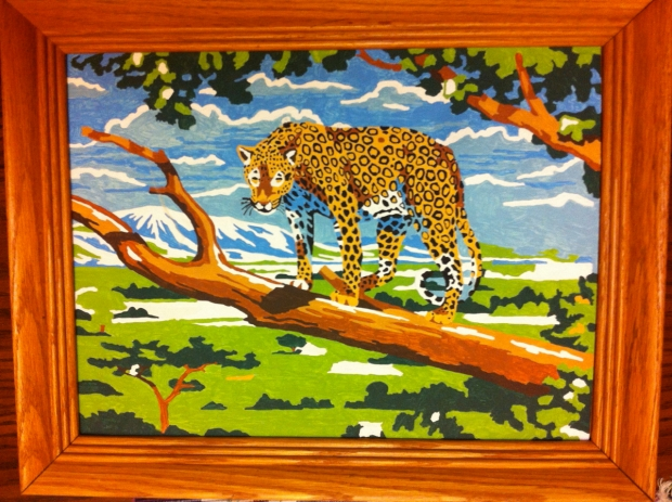 cheetah paint by number