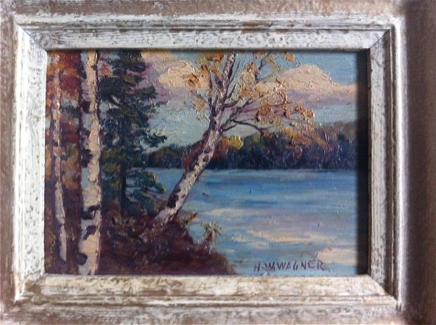 HW Wagner oil painting