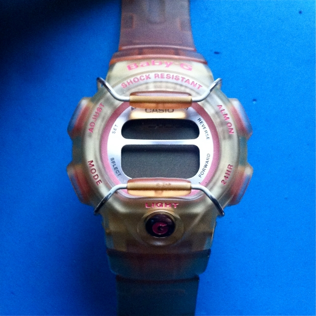 Pink and peach Casio Baby G watch