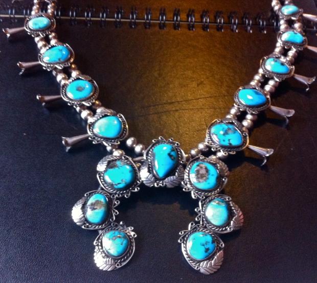 turquoise squashblossom
