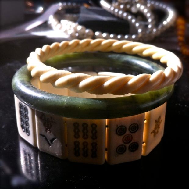 jade ivory bone bracelets