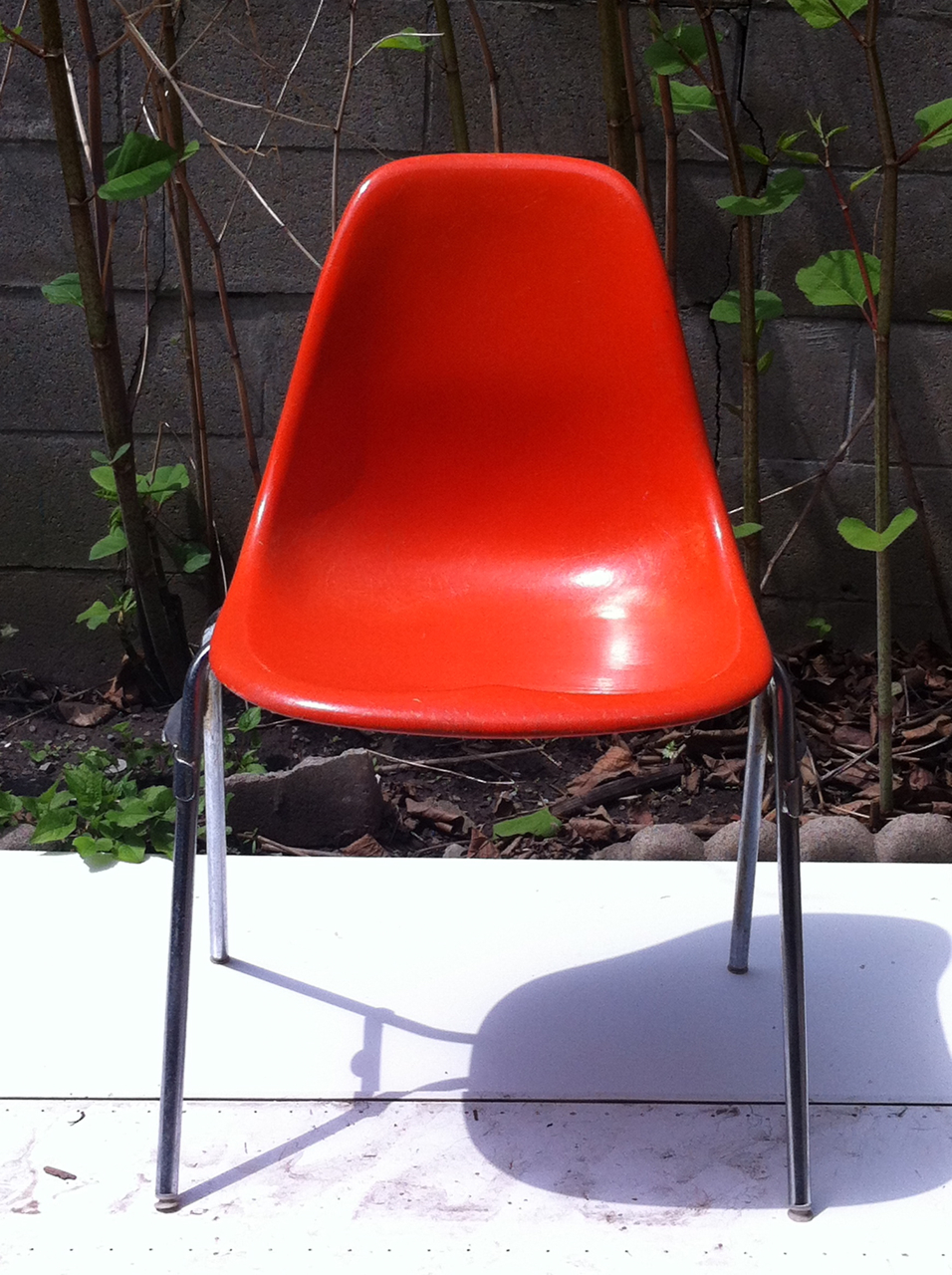 midweek modness orange fiberglass shell chair gracious good s blog
