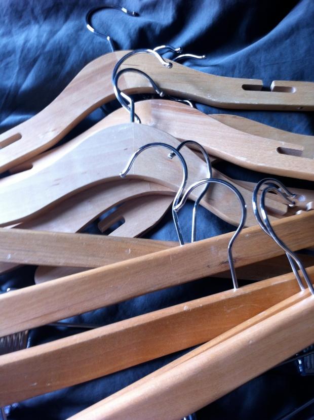 sidewallk find wooden hangers