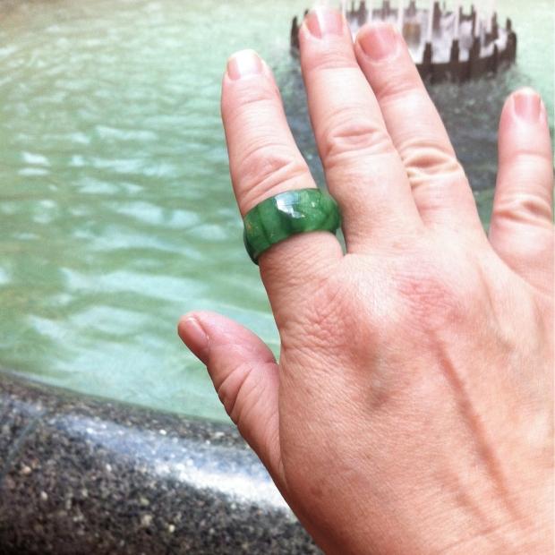 jade saddle ring