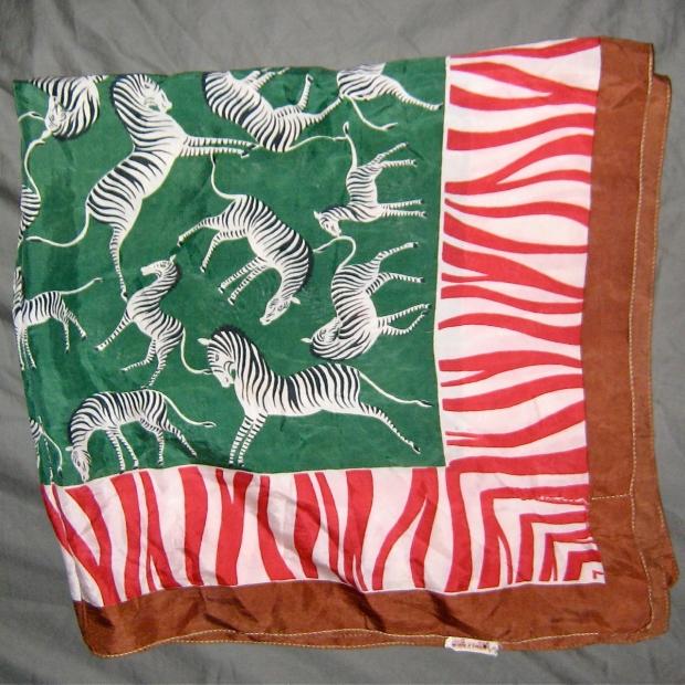 baar & Beard zebra scarf