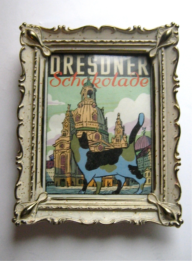 dresdner chocolate label