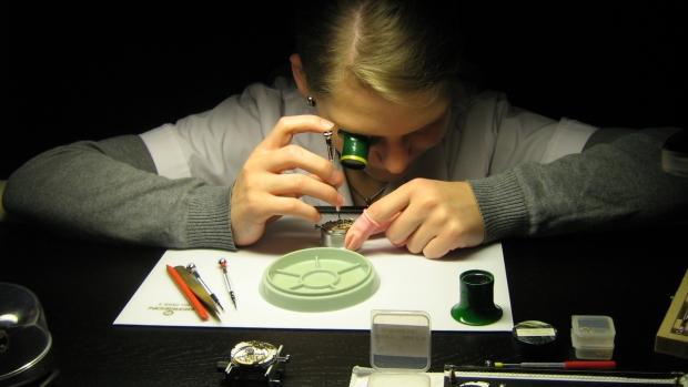 watchmaker at Glashütte Original Lounge at Berlinale 2015