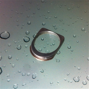 gold and silver ring M&pl