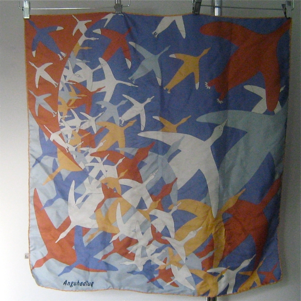 Luke anguhadluq silk scarf