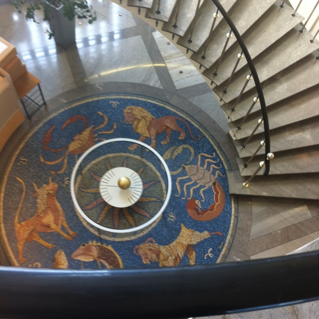omega museum stairwell