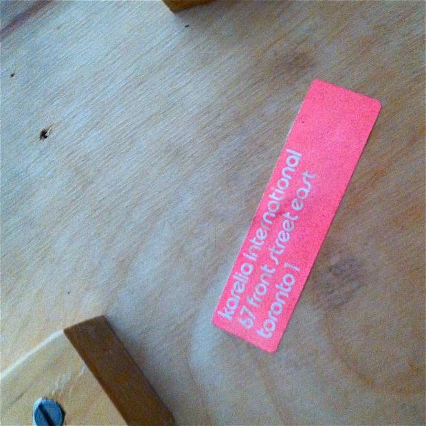 Aalto Stool karelia label
