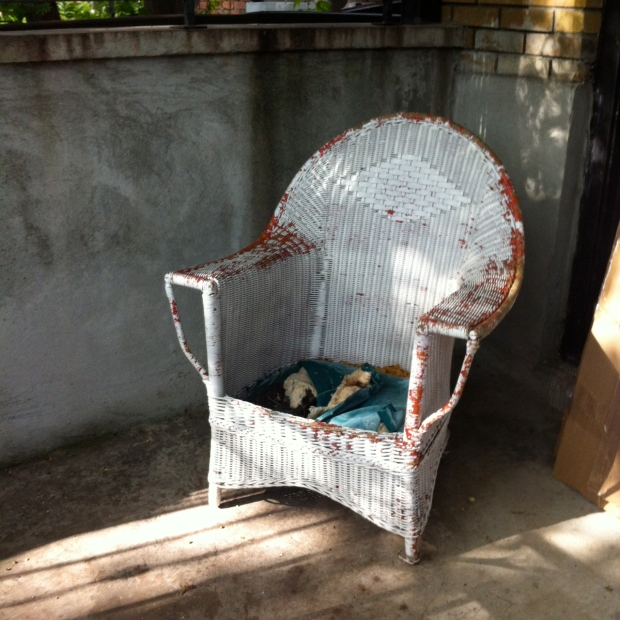 wicker chair sidewalk find