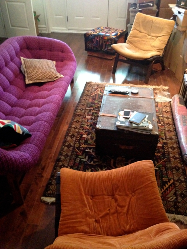 Craigslist couch and chairs