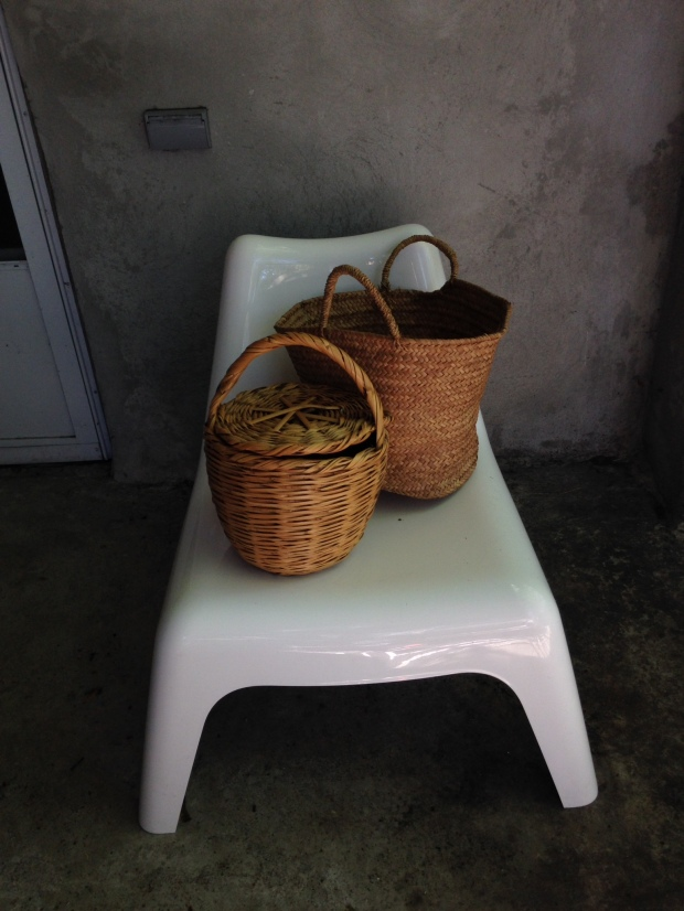 Market and feather baskets