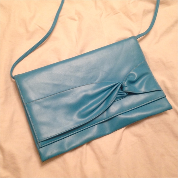 sidewalk faux leather turquoise envelope purse