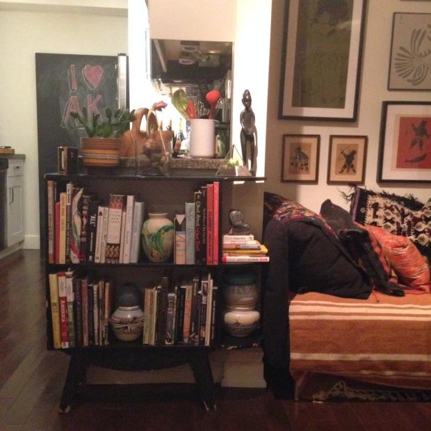 1950/ cantilevered leg bookcase