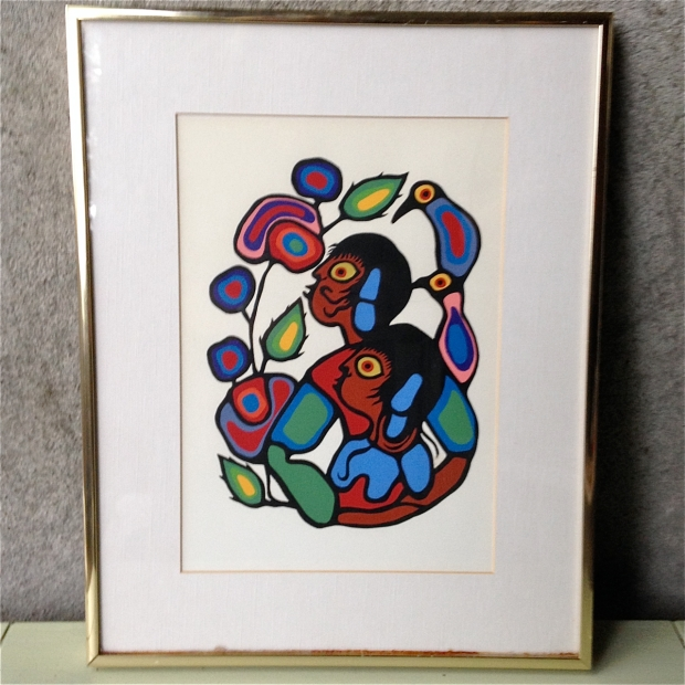 norval Morrisseau cosmic Child 1 Serigraph