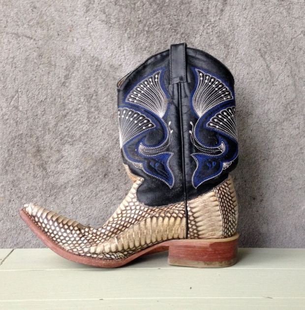 python cowboy boot