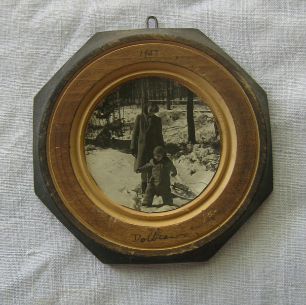 yard sale folk art photo frame