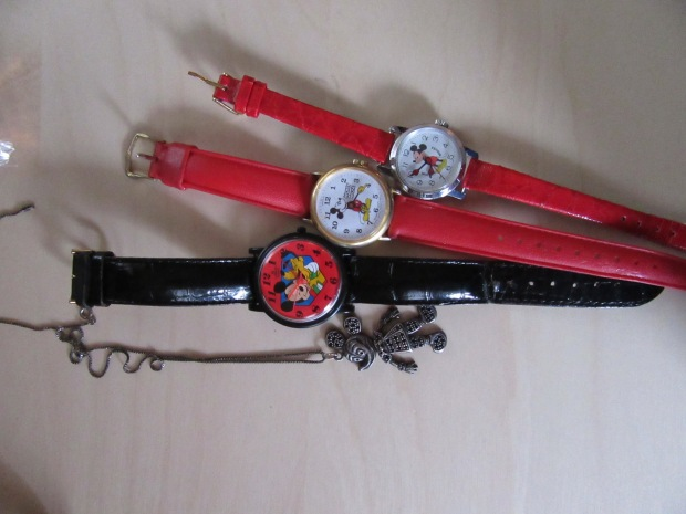 Mickey Mouse watches and pendant