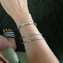 Two sterling silver bangles