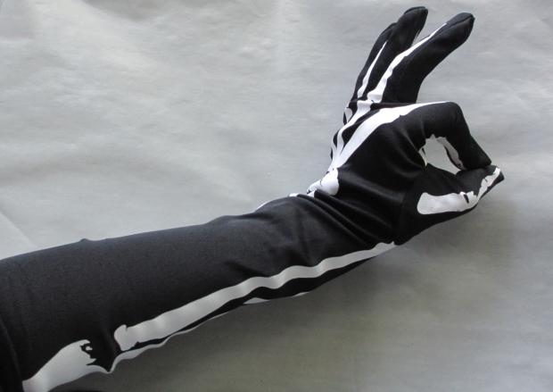 blog opera length skeleton gloves